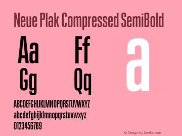 Neue Plak Compressed SemiBold Version 1.00, build 9, s3图片样张