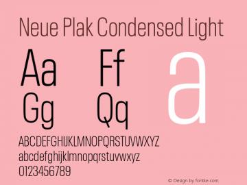 Neue Plak Condensed Light Version 1.00, build 9, s3图片样张