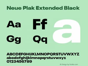 Neue Plak Extended Black Version 1.00, build 9, s3图片样张