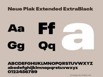 Neue Plak Extended ExtraBlack Version 1.00, build 9, s3图片样张