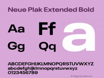 Neue Plak Extended Bold Version 1.00, build 9, s3图片样张