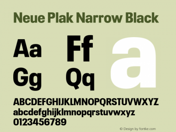 Neue Plak Narrow Black Version 1.00, build 9, s3图片样张