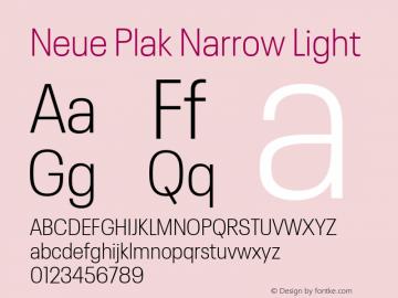 Neue Plak Narrow Light Version 1.00, build 9, s3图片样张
