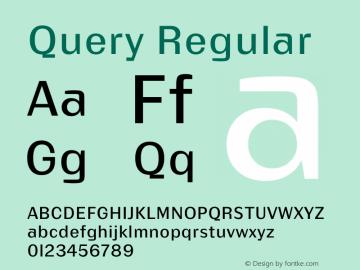 Query Version 1.00;July 11, 2018;FontCreator 11.5.0.2427 64-bit图片样张