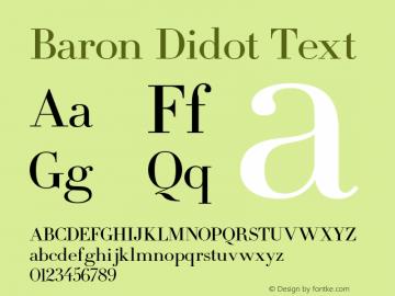 Baron Didot Font Family|Baron Didot-Uncategorized Typeface