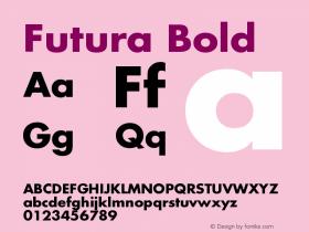 Futura-Bold Version 001.000图片样张