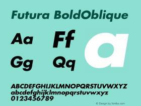 Futura-BoldOblique Version 001.000图片样张