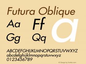 Futura-Oblique Version 001.000图片样张