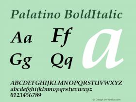 Palatino-BoldItalic Version 001.000图片样张
