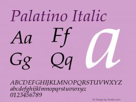 Palatino-Italic Version 001.000图片样张
