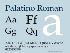 Palatino-Roman Version 001.000图片样张