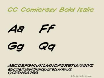 CCComicrazyBoldItalic 001.000图片样张
