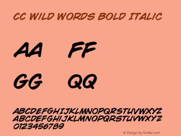 CCWildWordsBoldItalic 001.000图片样张