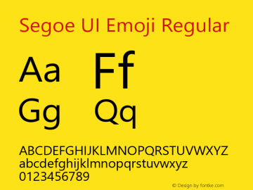 Segoe UI Emoji Version 1.25图片样张