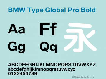 BMW Type Global Pro Bold Version 2.20图片样张