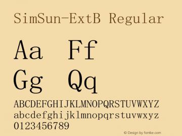 SimSun-ExtB Version 5.03图片样张