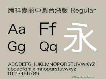 腾祥嘉丽中圆台湾版 Unicode9.0/161xxx图片样张