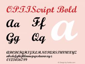 OPTIScript-Bold 001.000 Font Sample