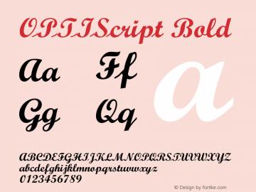 OPTIScript-Bold 001.000图片样张