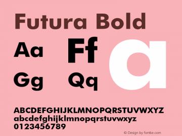 Futura Bold 003.001 Font Sample