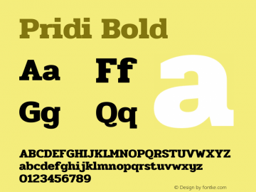 Pridi-Bold Version 1.000图片样张