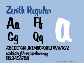 Zenith Regular Altsys Metamorphosis:11/14/94图片样张