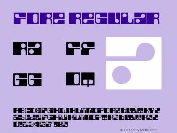Fore Regular Macromedia Fontographer 4.1.5 6/13/04 Font Sample