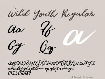 WildYouth-Regular Version 1.000;PS 001.000;hotconv 1.0.88;makeotf.lib2.5.64775图片样张