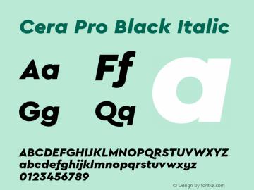 CeraPro-BlackItalic Version 6.0 | wf-rip DC20180515图片样张
