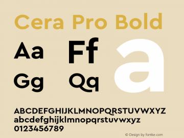 CeraPro-Bold Version 6.0 | wf-rip DC20180515图片样张