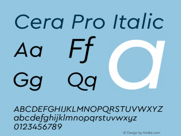 CeraPro-Italic Version 6.0 | wf-rip DC20180515图片样张