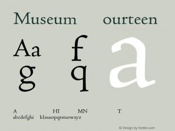 Museum Fourteen Version 001.001 Font Sample