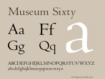 Museum Sixty Version 001.001 Font Sample