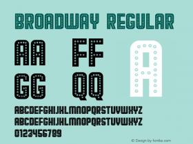 Broadway Regular Version 1.000图片样张