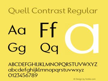 QuellContrast-Regular Version 1.000;PS 001.000;hotconv 1.0.88;makeotf.lib2.5.64775图片样张