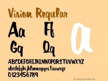 Vision Regular Altsys Metamorphosis:11/13/94 Font Sample