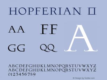 ☞Hopferian Version 1.200;com.myfonts.easy.2d-typo.hopferian.regular.wfkit2.version.3URU图片样张