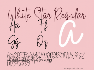White Star Version 1.00;August 25, 2018;FontCreator 11.5.0.2427 64-bit图片样张
