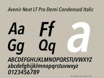 Avenir Next Lt Pro Font Avenirnextltpro Demicnit Font Avenirnext Lt