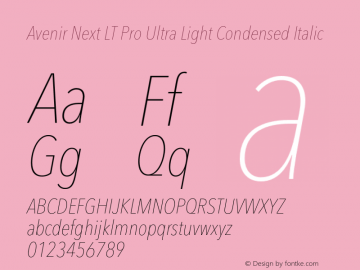 Avenir Next Lt Pro Font Avenirnextltpro Ultltcnit Font Avenirnext Lt