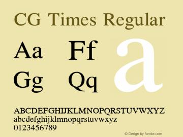 CG Times Version 1.00图片样张