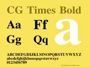 CG Times Bold Version 1.00图片样张