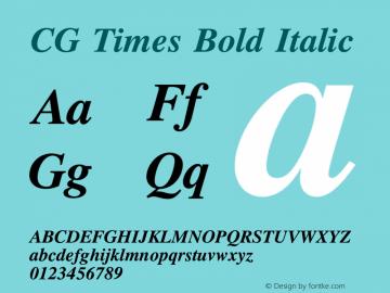 CG Times Bold Italic Version 1.00图片样张