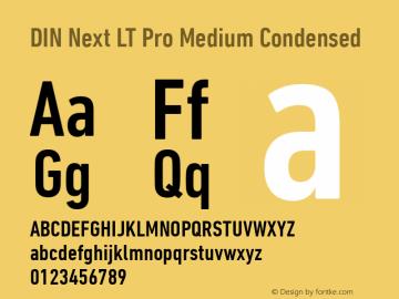 DIN Next LT Pro Medium Condensed Version 1.20图片样张