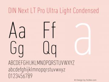 DINNextLTPro-UltraLightCond Version 1.200;PS 001.002;hotconv 1.0.38图片样张