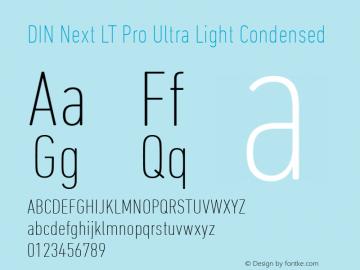 DIN Next LT Pro UltraLight Condensed Version 1.20图片样张