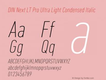 DINNextLTPro-UltraLightCondIta Version 1.000图片样张