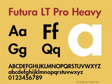 Futura LT Pro Font,FuturaLTPro-Heavy Font,Futura LT Pro Medium Font