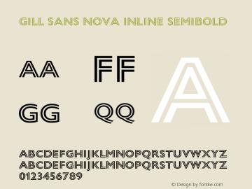 Gill Sans Semibold Font