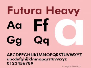 Futura Heavy Version 2.0-1.0 Font Sample